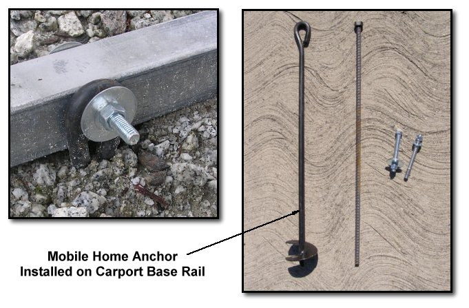 Metal Carport Anchors : Carports america terminology